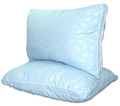 "Одеяло лебяжий пух ""Голубое"" 1.5-спальное + 2 подушки 50х70, фото 3"