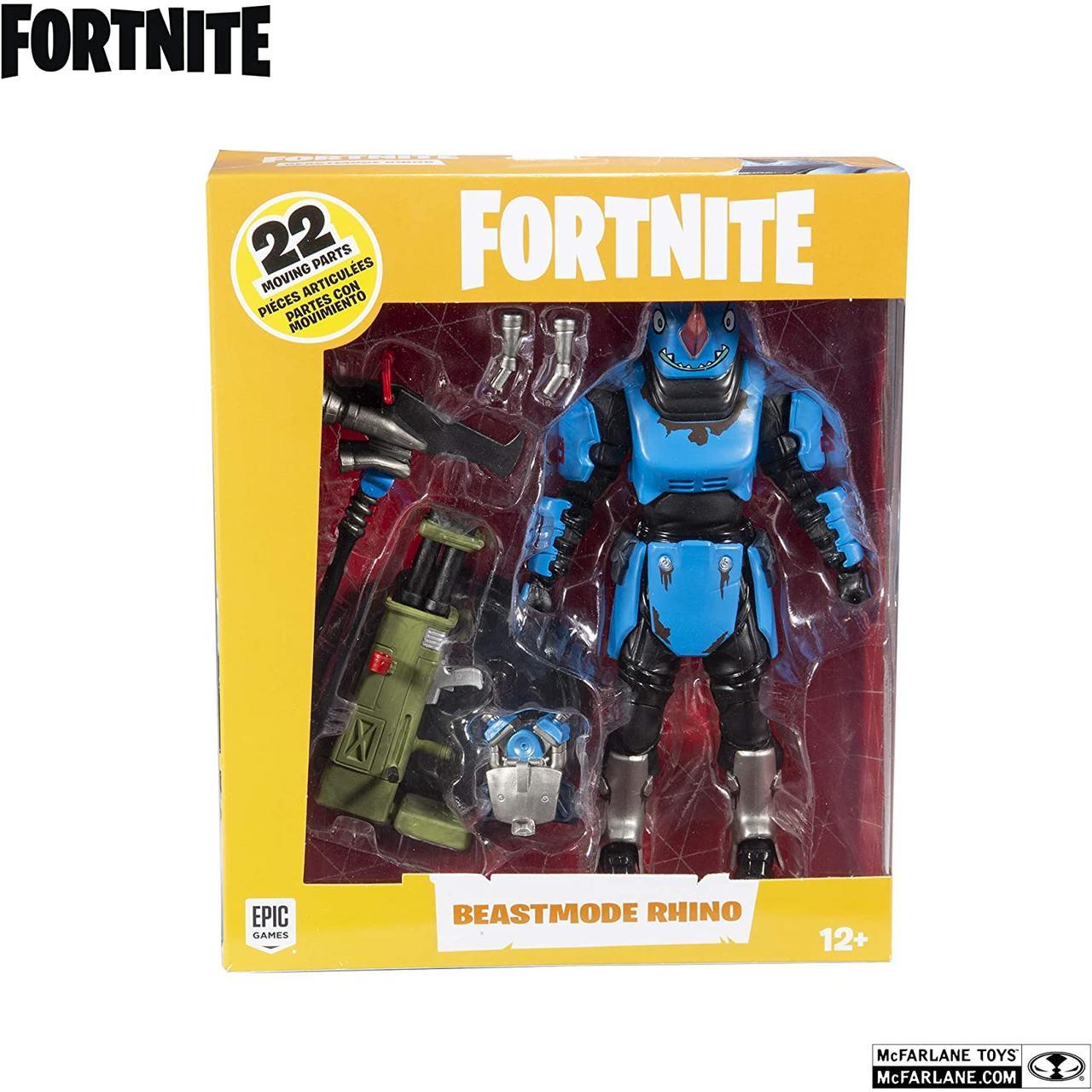 Коллекционная фигурка Фортнайт Рино McFarlane Toys Fortnite Beastmode Rhino Premium Action Figure