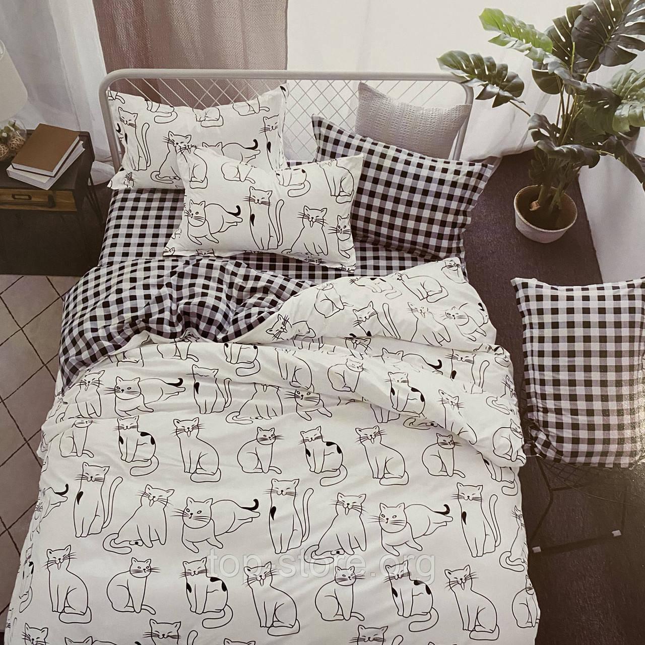 Постельное белье   Комплект постельного белья ( простынь на резинке ) Ткань- Поплин. Размер - Полуторный