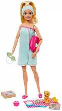 Кукла Барби с аксессуарами и щенком Barbie Spa Doll, Blonde, with Puppy Accessories