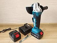 Угловая шлифовальная машина аккумуляторная AL-FA ALCAG125 2 аккумулятора в комплекте Кейс Акумуляторна