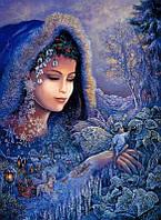 Алмазная вышивка Ангел Хранитель любви 40x55 см квадратные камни полная Чаривний диамант