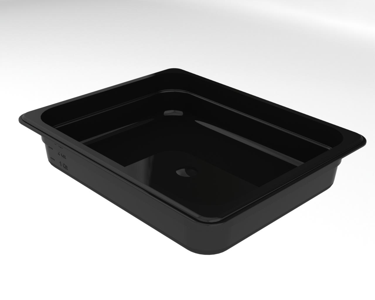 Гастроемкость из поликарбоната черная GN1/2 h65 мм, BRILLIS