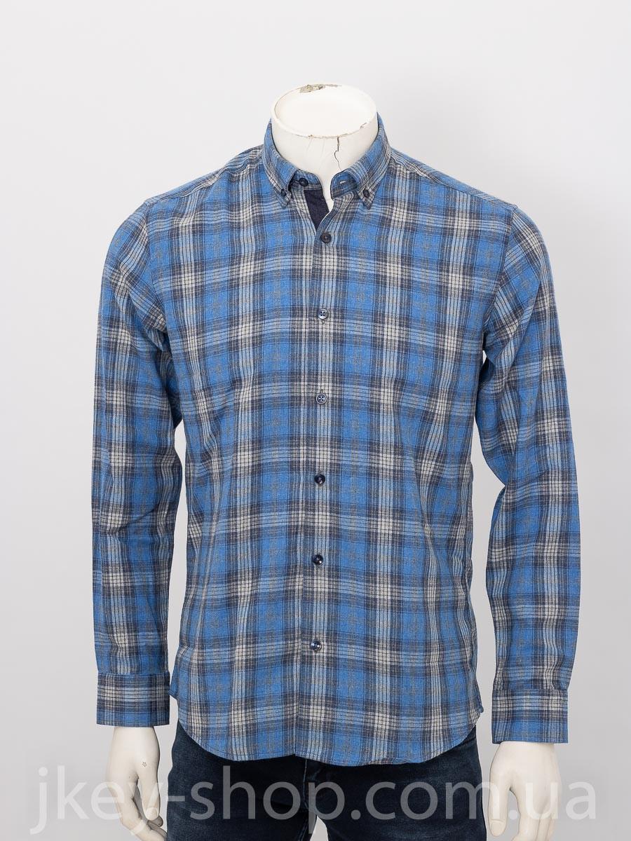 Рубашка с длинным рукавом мужская ZEN-ZEN 21053 RENK 31 MAVI CHECK