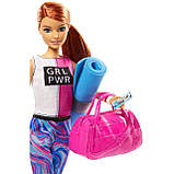 Кукла Барби Фитнес Barbie Fitness Doll, Red-Haired, with Puppy Accessories, фото 3