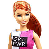 Кукла Барби Фитнес Barbie Fitness Doll, Red-Haired, with Puppy Accessories, фото 4
