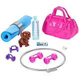 Кукла Барби Фитнес Barbie Fitness Doll, Red-Haired, with Puppy Accessories, фото 6