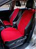 Накидки на сиденья алькантара красные (широкие, передние) 2шт