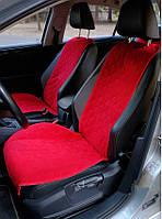 Накидки на сиденья алькантара красные (широкие, передние) 2шт, фото 1