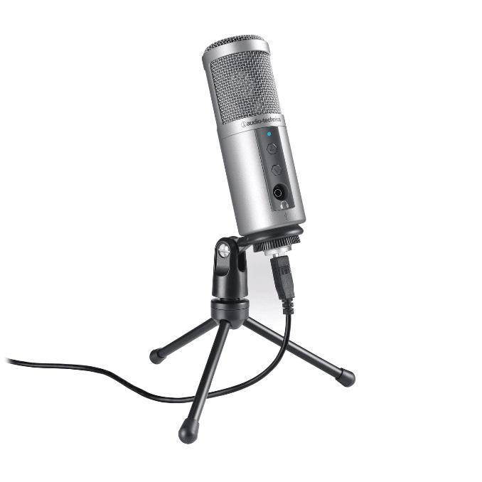 Audio-Technica ATR2500 USB микрофон кардиоидный конденсаторный - Серебро