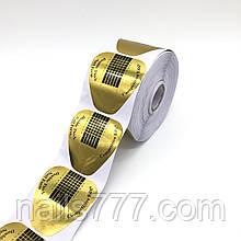 Формы для ногтей золотые, 500 шт