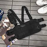 Бронежилет черный HGULBAG нагрудная сумка черная, фото 4