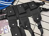 Бронежилет черный HGULBAG нагрудная сумка черная, фото 5