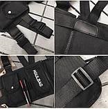 Бронежилет черный HGULBAG нагрудная сумка черная, фото 3