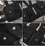 Бронежилет черный HGULBAG нагрудная сумка черная, фото 6