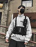 Бронежилет черный HGULBAG нагрудная сумка черная, фото 9