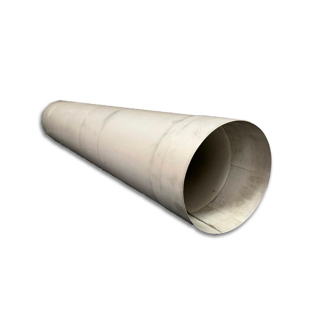 Труба для дымохода L-0,5 м D-130 мм толщина 0,6 мм