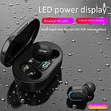 Беспроводные наушники E7S в стиле Xiaomi Redmi Airdots Black, фото 2