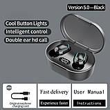 Беспроводные наушники E7S в стиле Xiaomi Redmi Airdots Black, фото 5
