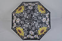 Женский зонт полуавтомат с цветами от фирмы Feeling Rain - 100-156