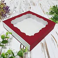 Коробка для подарунків червона 160х160х35 мм