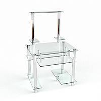 Стол компьютерный из органики стекла и металла модель Рондо