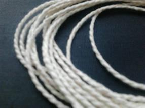 Шпагат-веревка 810 текс колбасный белый витой