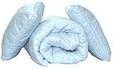 "Одеяло лебяжий пух ""Голубое"" евро + 2 подушки 70х70, фото 4"
