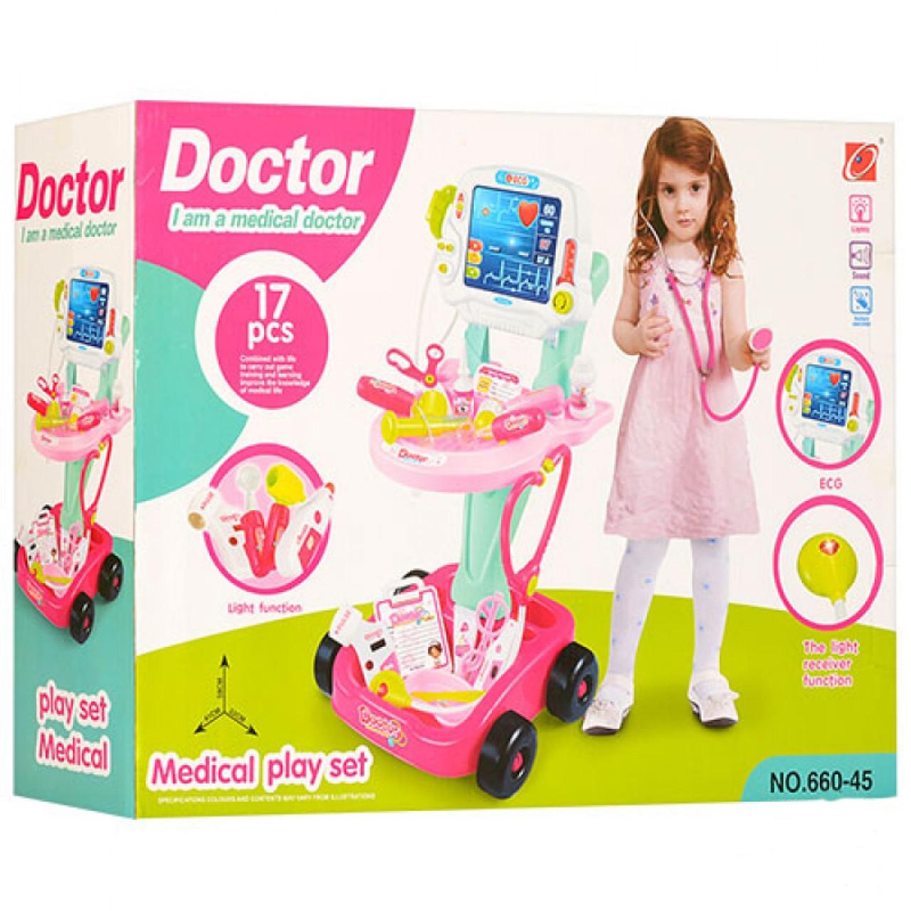 Купить Товары для детей, Игровой набор-тележка Умелый доктор 660-45