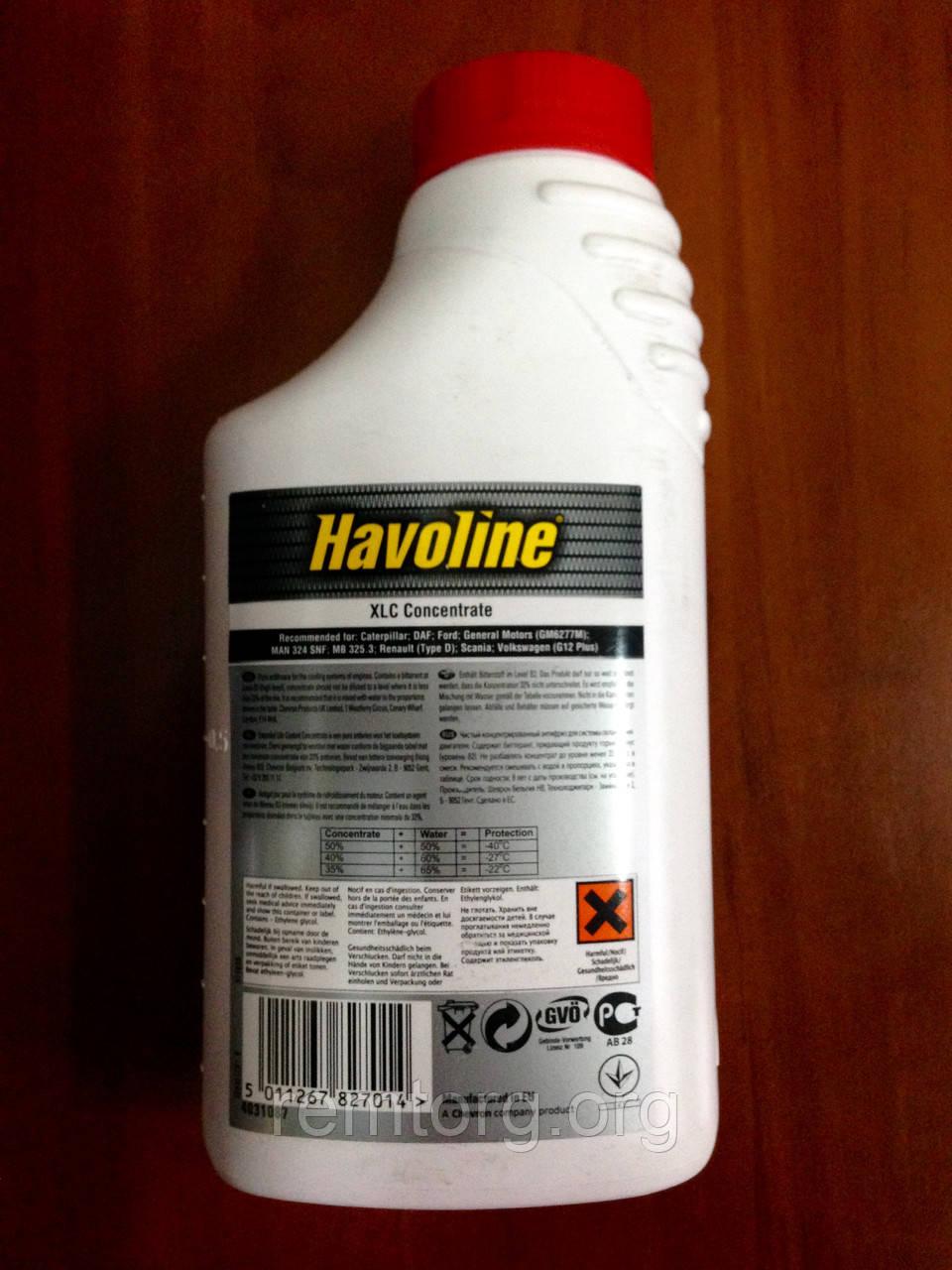 HAVOLINE XLC PDF