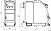 Промышленный котел на твердом топливе Kronas PROM 300 кВт с автоматикой функцией PID и вентилятором, фото 9