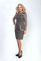 Женское платье из шерстяной ткани и ангоры, размеры 46 - 54