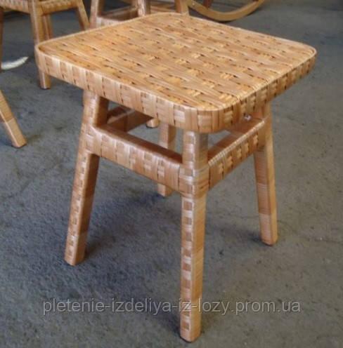 Табуретка из лозы квадратная - Плетеные изделия из лозы в Закарпатской области