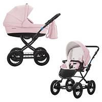 Универсальная коляска 2 в 1 Aroteam Cocoline Prima Эко-кожа Розовый 01