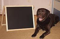 Доска - мольберт (58 см.*48 см.) для рисования двухсторонняя, магнитная, настольная (напольная) , деревянная.