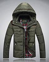Мужская зимняя куртка пуховик JEEP в наличии! (JP_04), хаки
