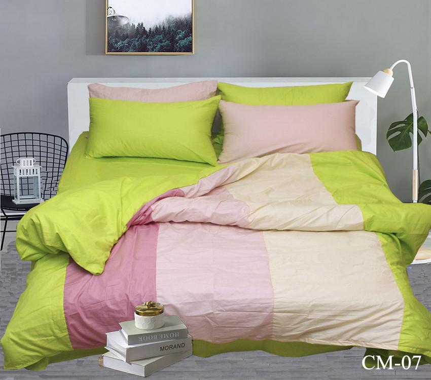 Комплект постельного белья Евро Color mix CM-07