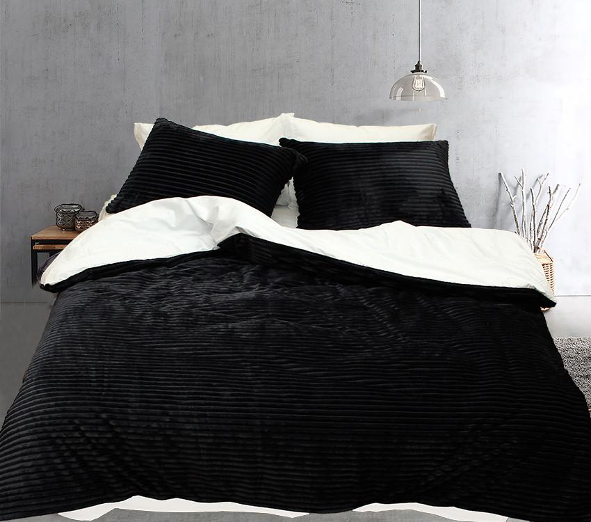 Комплект постельного белья Евро зима-лето Black&white