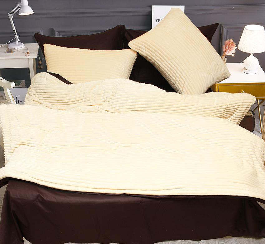 Комплект постельного белья Евро зима-лето Beige