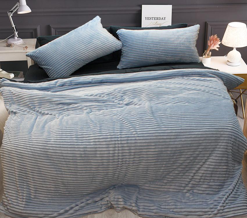 Комплект постельного белья Евро зима-лето Light blue