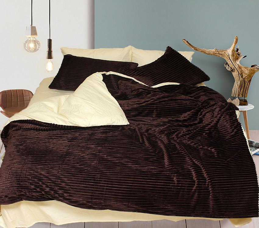 Комплект постельного белья Евро зима-лето Brown