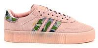 "Женские Кроссовки Adidas Samba ""Pink Khaki"" - ""Розовые Хаки"" (Реплика ААА+), фото 1"
