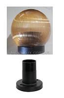 Світильник садово-парковий Стовп 12см и куля NF1807 φ150мм золото прізматік IP44, фото 2
