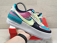 Кросівки жіночі в стилі Nike Air Force 1 Shadow різнокольорові