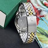 Наручные часы Rolex Date Just Silver-Gold-Black, фото 3