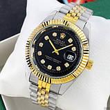 Наручные часы Rolex Date Just Silver-Gold-Black, фото 4