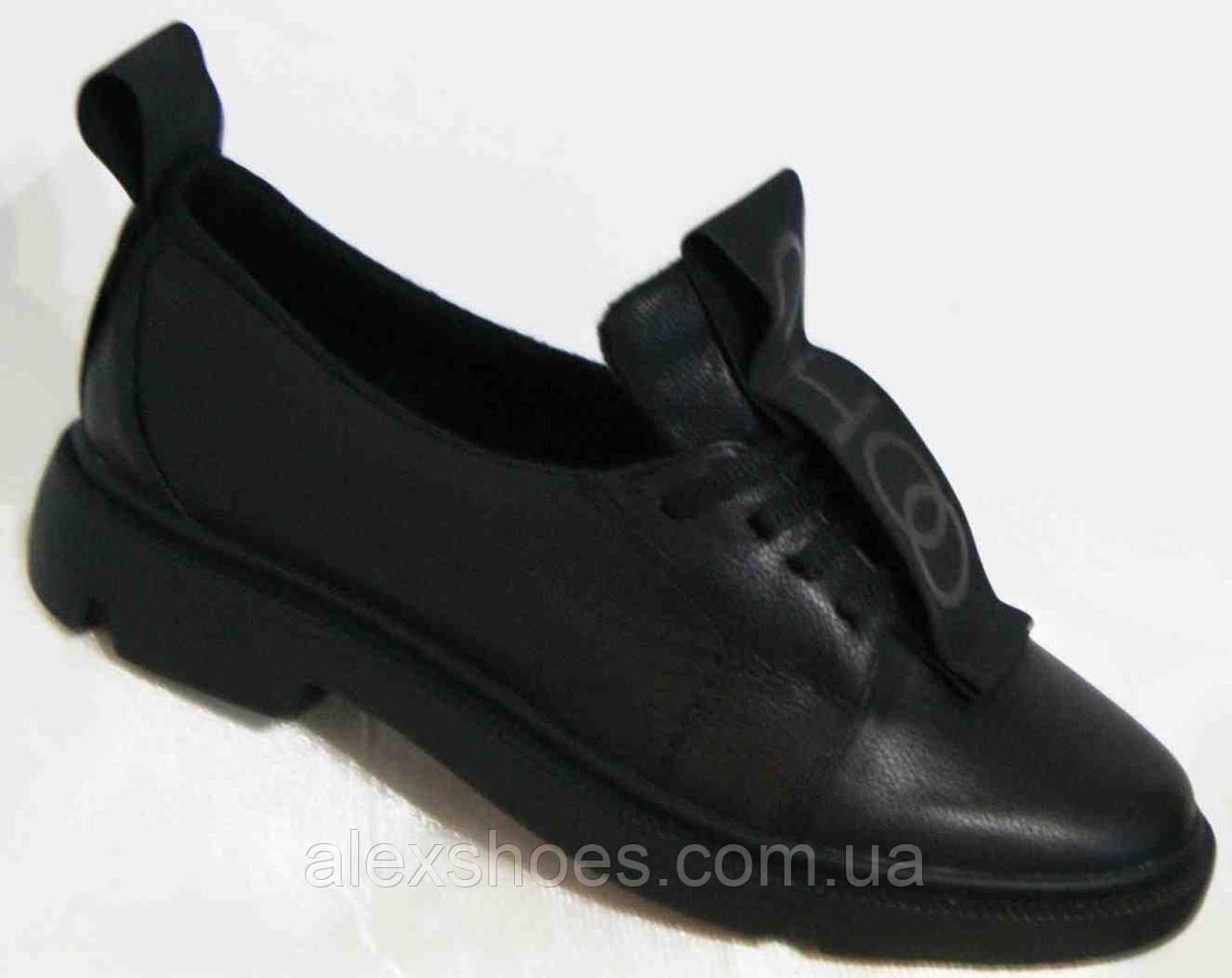 Туфли женские большого размера из натуральной кожи от производителя модель В3544-36