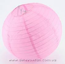 Бумажный подвесной фонарик, светло-розовый, 45 см