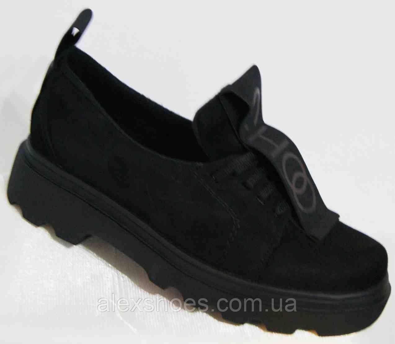 Туфли женские большого размера из натуральной замши от производителя модель В3544-36z
