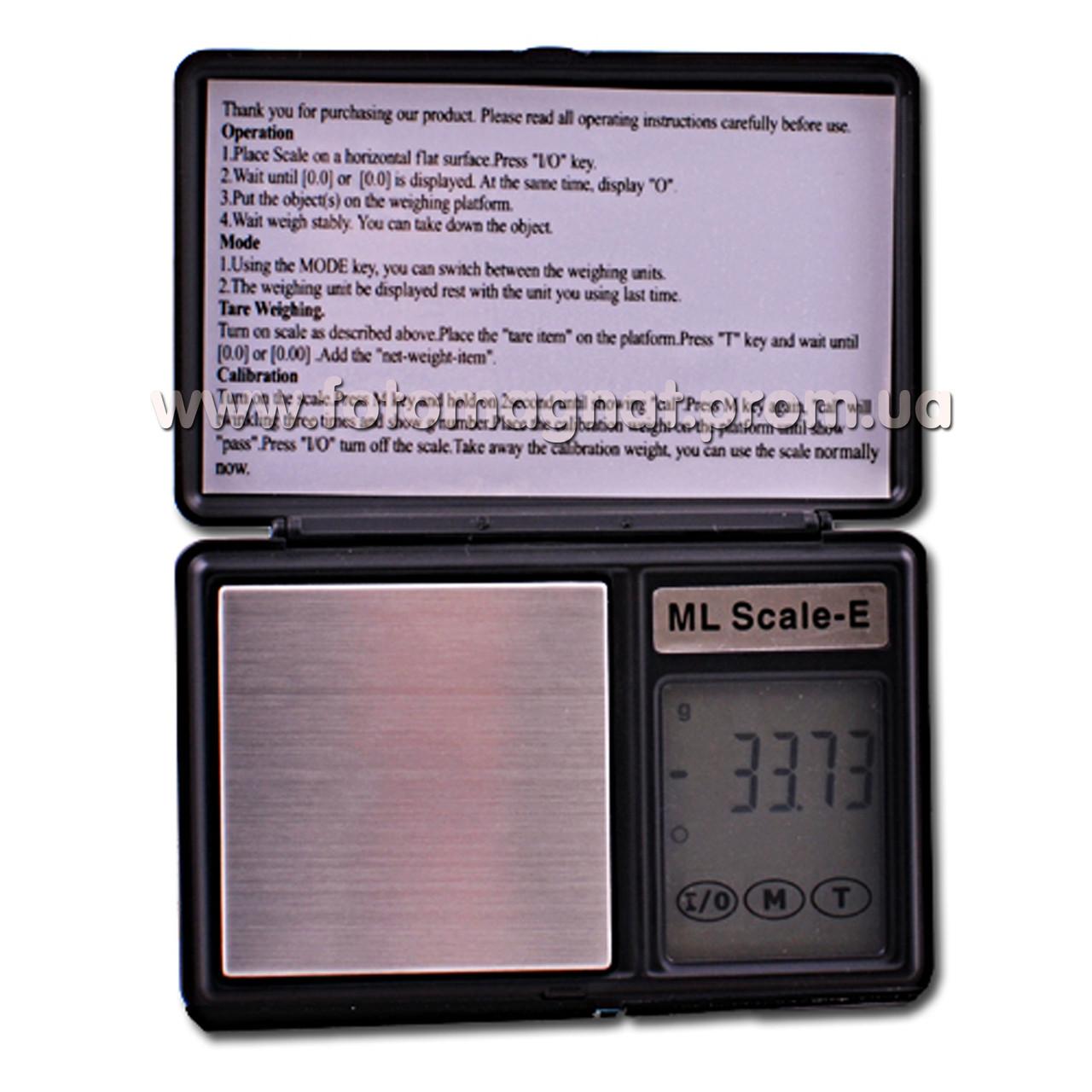 Весы ювелирные ML E-01/6259 (карманные весы)